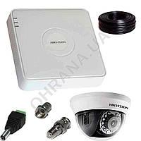 2 Мп Комплект HD видеонаблюдения Hikvision (1 внутр. камера)