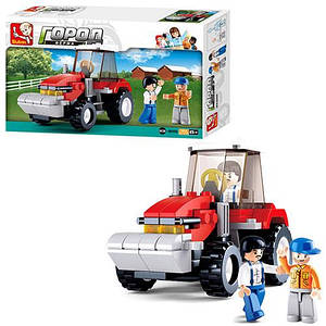 Конструктор SLUBAN M38-B0556 (72шт) ферма, трактор, фигурки, 103дет, в кор-ке, 23,5-14-4,5см