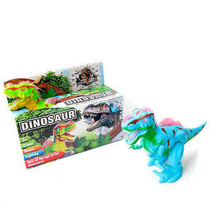 Динозавр 3835 (48шт) 28см, зв,св, ходит, подвиж.дет, 2цвета, на бат-ке, в кор-ке, 27,5-20-10см