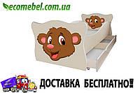 Кровать детская (ліжко дитяче) Мишка фигурное Animal