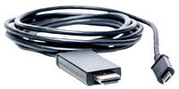 Кабель-переходник PowerPlant micro USB - HDMI, 1.8m, (MHL), Blister