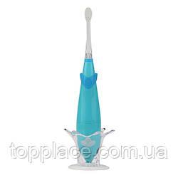 Детская электрическая звуковая зубная щетка Seago SG921 Sonic с музыкальным таймером, Blue (K1010050204)