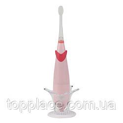 Детская электрическая звуковая зубная щетка Seago SG921 Sonic с музыкальным таймером, Pink (K1010050205)