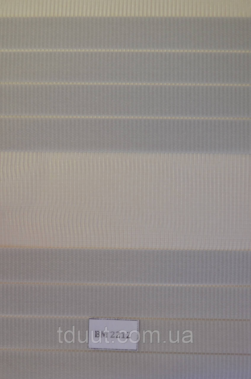 Рулонные шторы день-ночь серые ВМ-2212