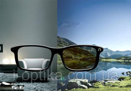Фотохромные стеклянные линзы для очков, фото 2