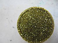 Песок для дизайна ногтей золотой