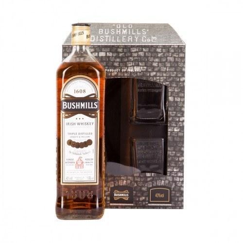 Виски Bushmills Original + 2 Glasses (Бушмилс Ориджинал + 2 стакана) 40%, 1 литр