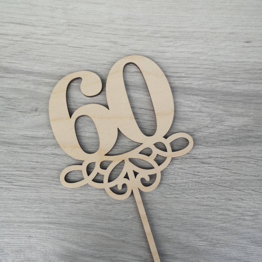 Юбилейный топпер цифра 60