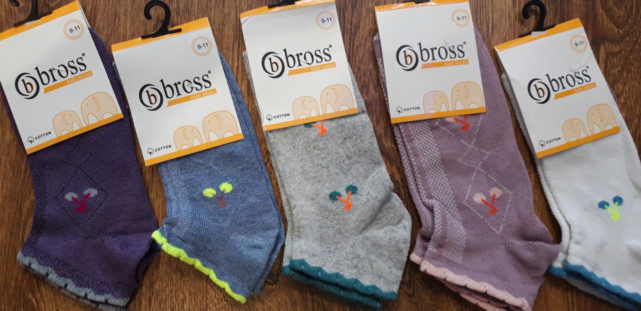 """Дитячі стрейчеві шкарпетки,сітка""""Bbross""""Туреччина вишеньки 9-11 років"""