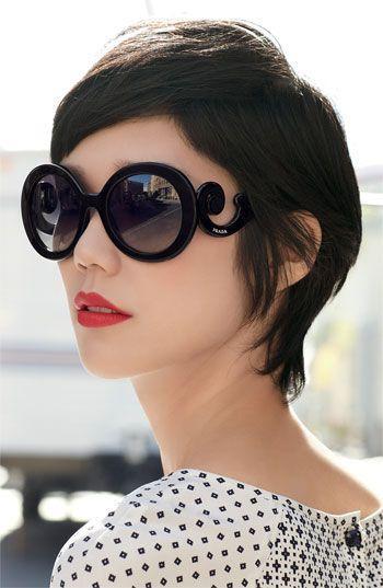 Женские солнцезащитные очки с фигурным заушником. 3001 черные