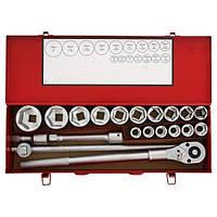 Набор инструментов 20 предметов, 3/4 дюйма, 6 граней, 19-50 мм, Force 6201-5
