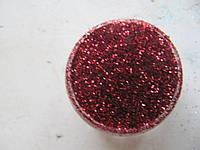 Песок для дизайна ногтей красный
