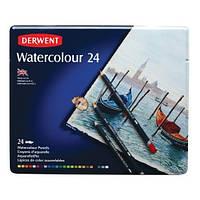 Набор акварельных карандашей Derwent Watercolour, 24шт, металл. коробка, 32883 Derwent