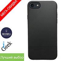 Чехол для iPhone 7/8 Plus/8/7+/X/XS Max/XR/10 | WIWU Elite Case чохол - накладка на айфон черный (TPU/силикон)
