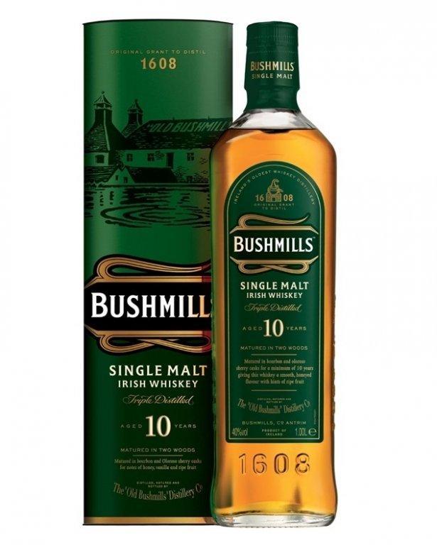 Виски Bushmills 10 Years Old (Бушмилс 10 лет) 40%, 0.7 литра