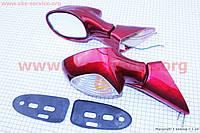 Зеркала для мототехники комплект Viper - F50 красные