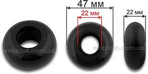 Колесо без подшипника для чемодана 47 мм черное