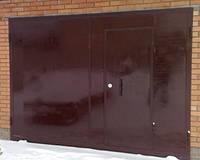 Гаражные металлические ворота, фото 1