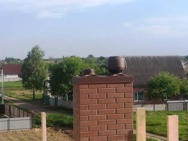 Вентиляторы и вентиляционные выходы для дома (монтаж на кирпичный дымоход).