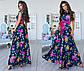 """Елегантне довге жіноче плаття 1076 """"Шовк Троянди Максі"""" в кольорах, фото 2"""