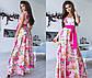 """Елегантне довге жіноче плаття 1076 """"Шовк Троянди Максі"""" в кольорах, фото 7"""