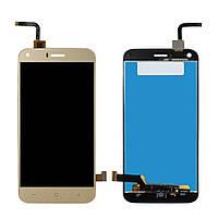 Дисплей для мобильного телефона S-TELL M621, золотой, с тачскрином