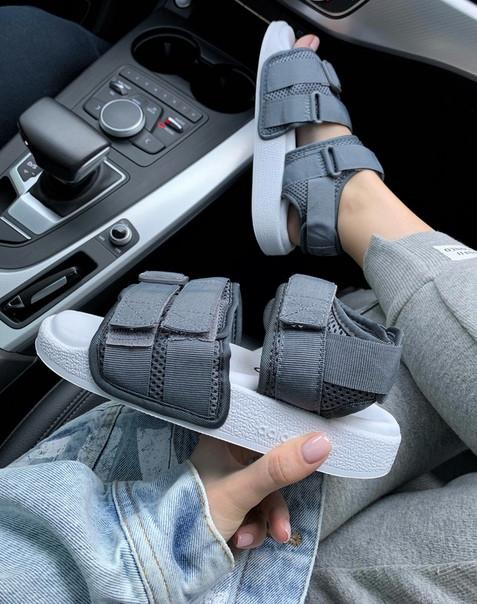 Жіночі сандалі Adidas ADILETTE SANDAL Grey репліка