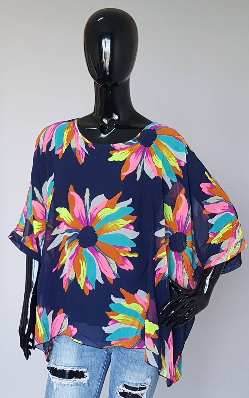 Летняя женская блузка разлетайка из тонкой ткани