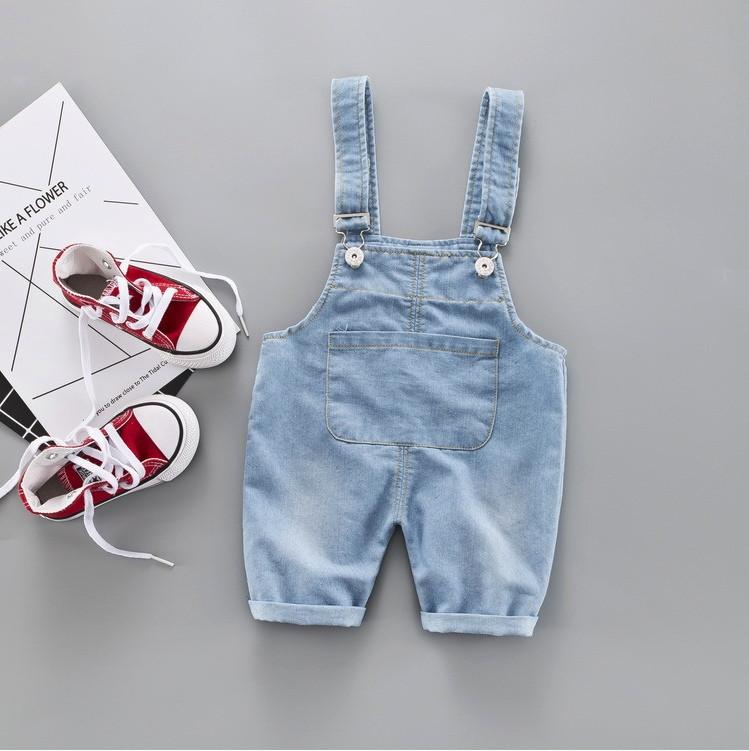 Комбинезон детский джинсовый голубой  4 года