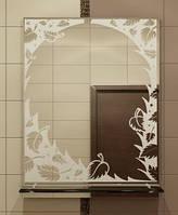 Зеркало с полкой 60х45 см