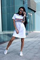 Платье поло белое