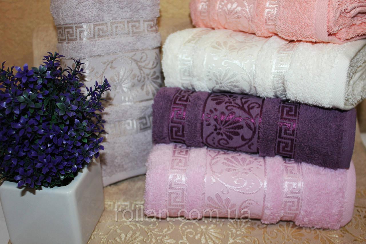 Метровые турецкие полотенца Цветок - Версаче