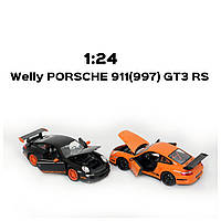 """Машина Welly 22495, """"PORSCHE 911(997) GT3 RS"""", металлическая, масштаб 1:24, 22495W"""