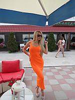 Женское облегающее платье миди без рукавов