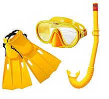 Набір 3 в 1 для плавання Intex 55655 маска: розмір L, 8+, голова 54 см, трубка, ласти: розмір L, 37 (EU), за