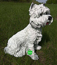 Садовая фигура собака Терьер сидячий, фото 2