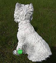 Садовая фигура собака Терьер сидячий, фото 3