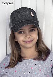 Бейсболка  Фламинго  цвет темно серый размер  50-54  ( 3-9 лет)