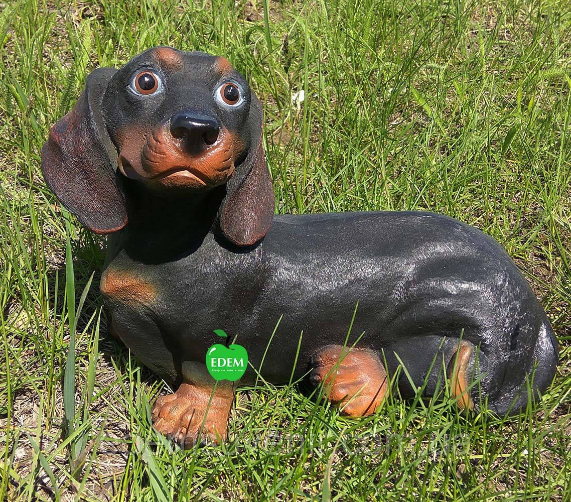 Садовая фигура собака Такса