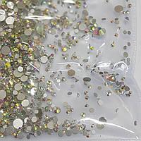 Камни сваровски разного размера Хамелеон Серебренная подложка S3-SS12 стекло 1440 штук