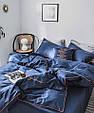 Преміум-Сатин. 100% бавовна. Євро розмір. Колекція Смак життя. Колір Темно-синій., фото 2