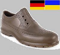Мужские туфли Оксфорды. Германия - Украина. Непромокаемые обувь для ношения и работы. Материал EVA Коричневые