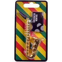 Трубка для курения (металл) Саксофон №4763