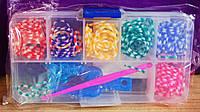 Резиночки разноцветные Rainbow Loom 180 шт