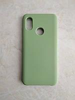 Original Silicone Case для Xiaomi Mi 8. Силиконовый чехол с микрофиброй для сяоми ми 8 зеленый