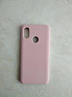 Original Silicone Case для Xiaomi Mi 8. Силиконовый чехол с микрофиброй для сяоми ми 8 пудровый