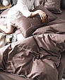Преміум-Сатин. 100% бавовна. Євро розмір. Колекція Смак життя. Колір Мокко., фото 5