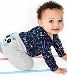 Комплект тройка Картерс ( Carter's) для мальчика синий, серый, фото 4