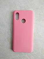 Original Silicone Case для Xiaomi Mi 8. Силиконовый чехол с микрофиброй для сяоми ми 8 розовый