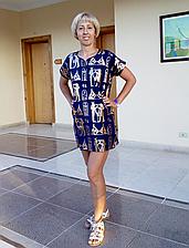 Женская пляжная туника с принтом.Размер: S M L XL XXL(фр) 3 цвета